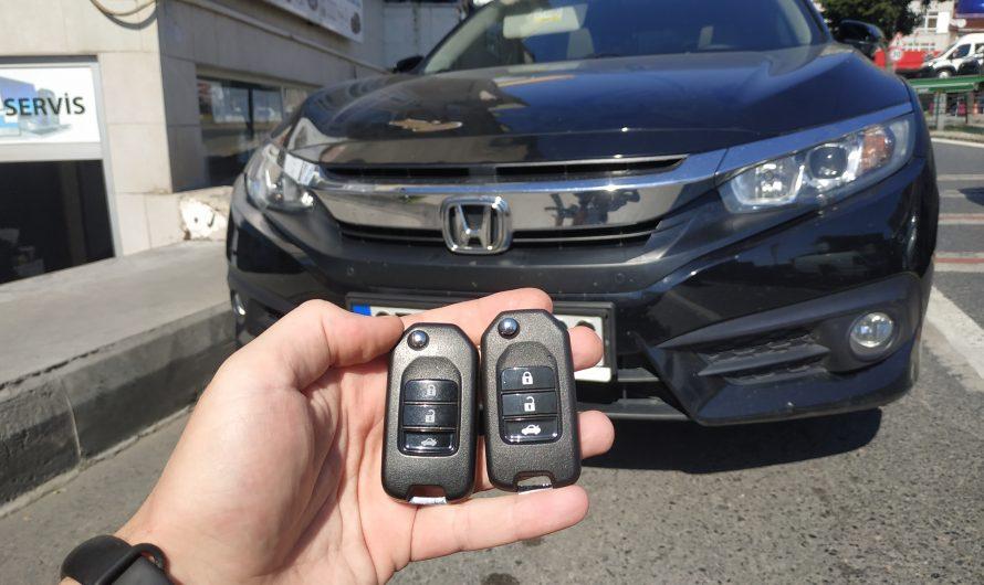 Honda Civic 2017 Yedek Anahtarı