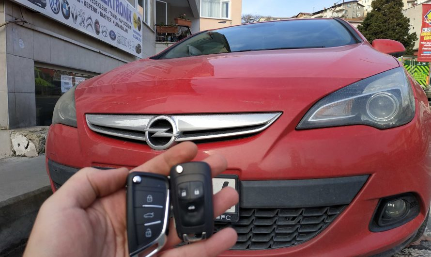 Opel Astra J 2012 Yedek Anahtar Uygulaması