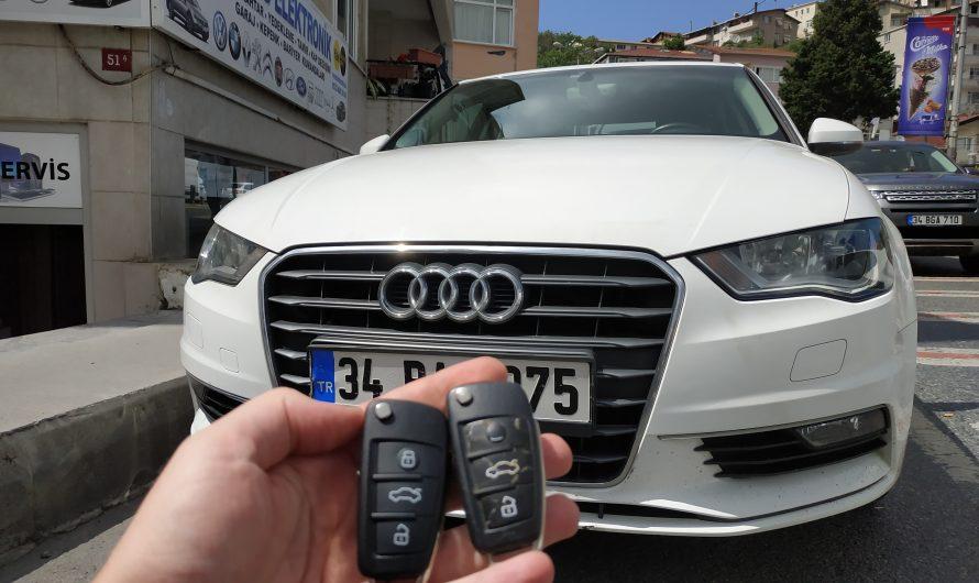 Audi A3 2016 Model Yedek Anahtar Uygulaması