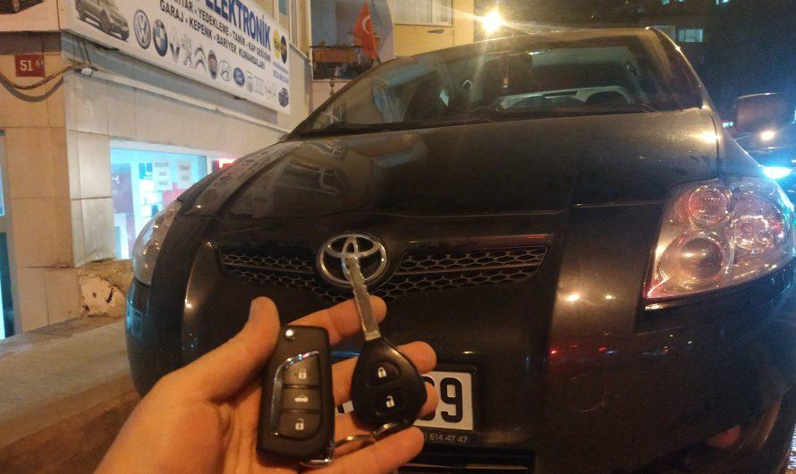 Toyota Auris Yedek Anahtar Uygulaması